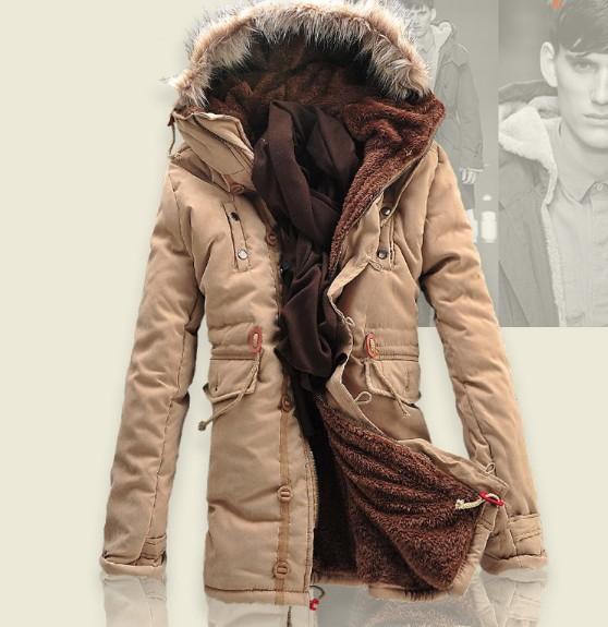 2015 Thick Warm Long Winter Jackets Men Fur Hood Warm Winter Coat Men Down Jackets Plus Size 3XL(China (Mainland))