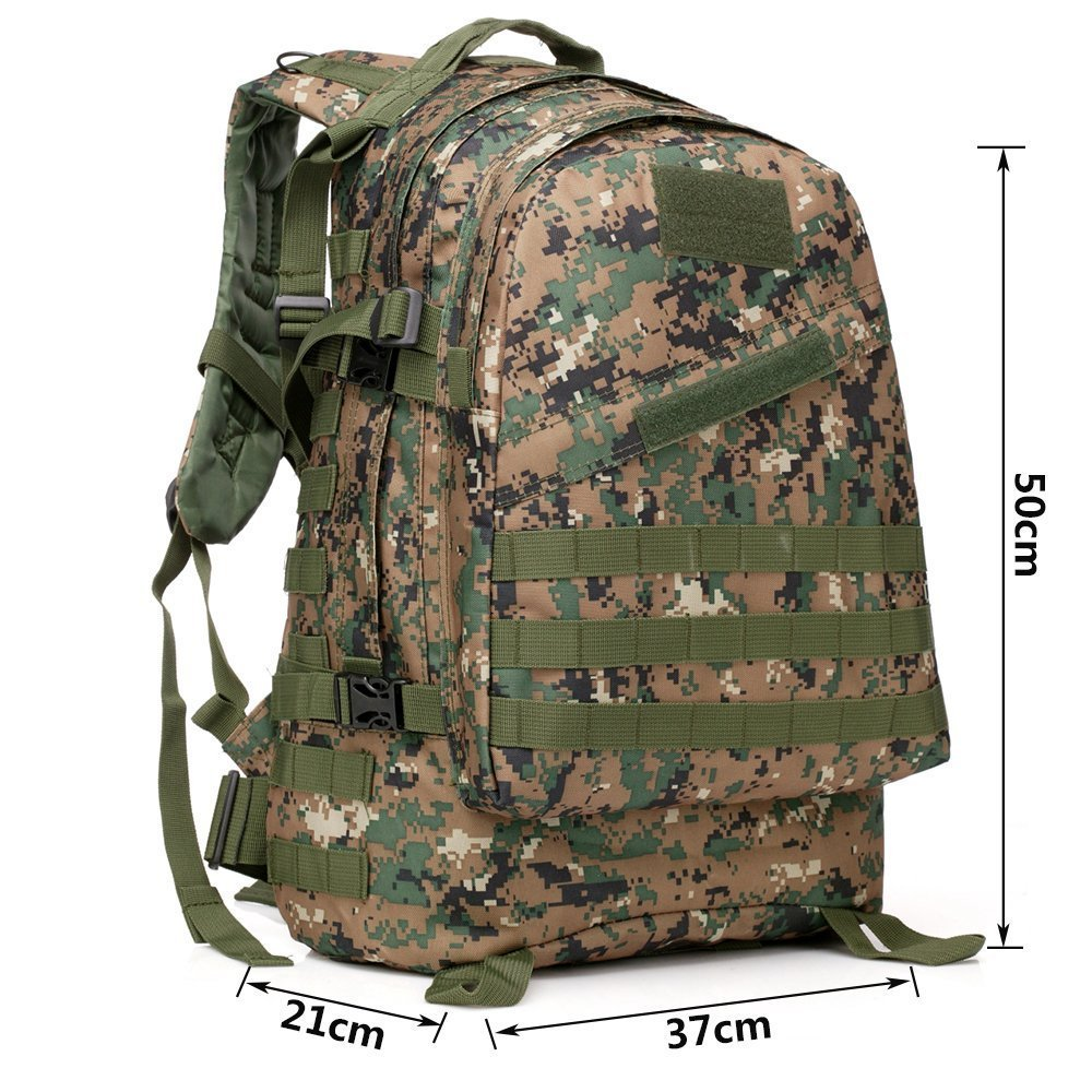 40L Molle 3D Military Tactical Rucksack Fashion Hiking Camping Sport Backpack Men Women Travel Bags Waterproof Attract Daypack(China (Mainland))