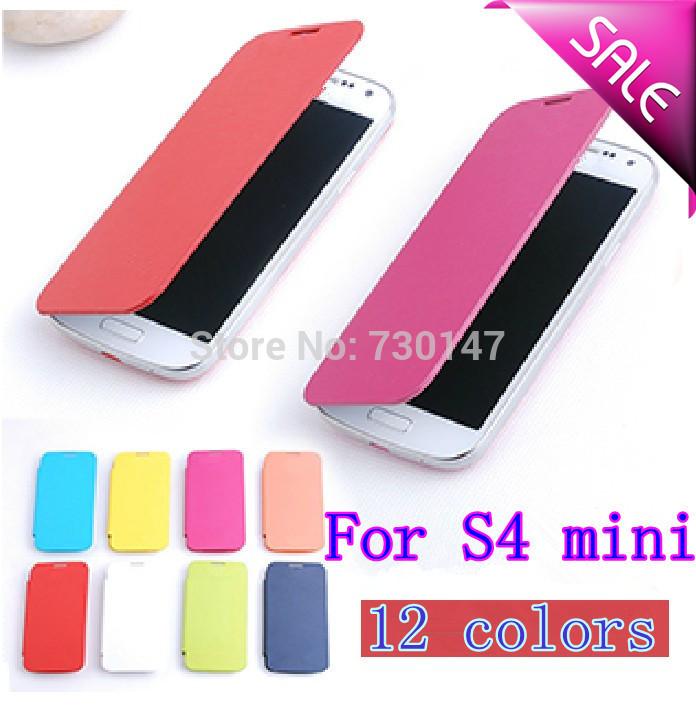 Back Battery Housing Cover Flip Leather Case Samsung Galaxy S4 SIV Mini I9190 9190 i9192 i9195 +Screen Flim - SHENZHEN KAYKAY TRADE CO., LTD store