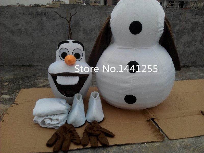 high-quality new Smiling Olaf mascot costume Olaf mascot costume cartoon mascot costume fast shipping(China (Mainland))