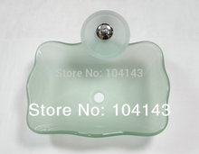 Unique Clear Easy Install Basin Construction&Real Estate Kitchen&Bath Fixtures Bathroom Sinks&Mounting Ring Glass Basin Set