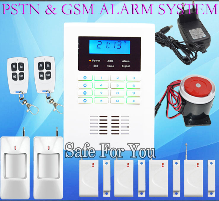 Free shipping new 2PCS infrared detector 4pcs Door magnetic sensor for Wireless home security alarm PSTN&GSM alarm system 433MHz(China (Mainland))