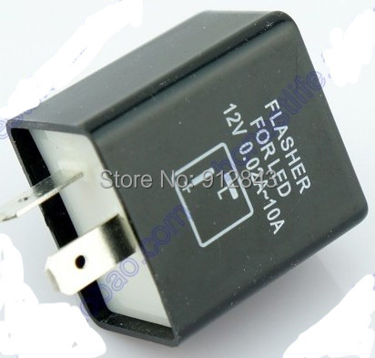 2 pins Motorcycle 12V 0.02A-10A Flasher LED Electronic Relay Fix Blinker Indicator - Most Economic shop store