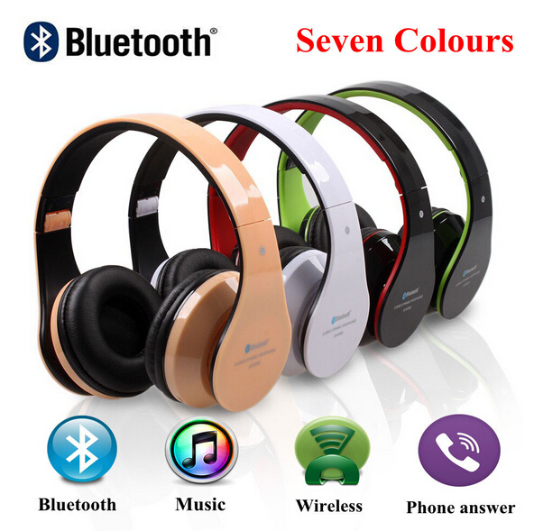 Foldable High Fidelity Surround Sound Noise Canceling Wireless Stereo Bluetooth Headphone Headset With Mic TF Card Mp3 Supported