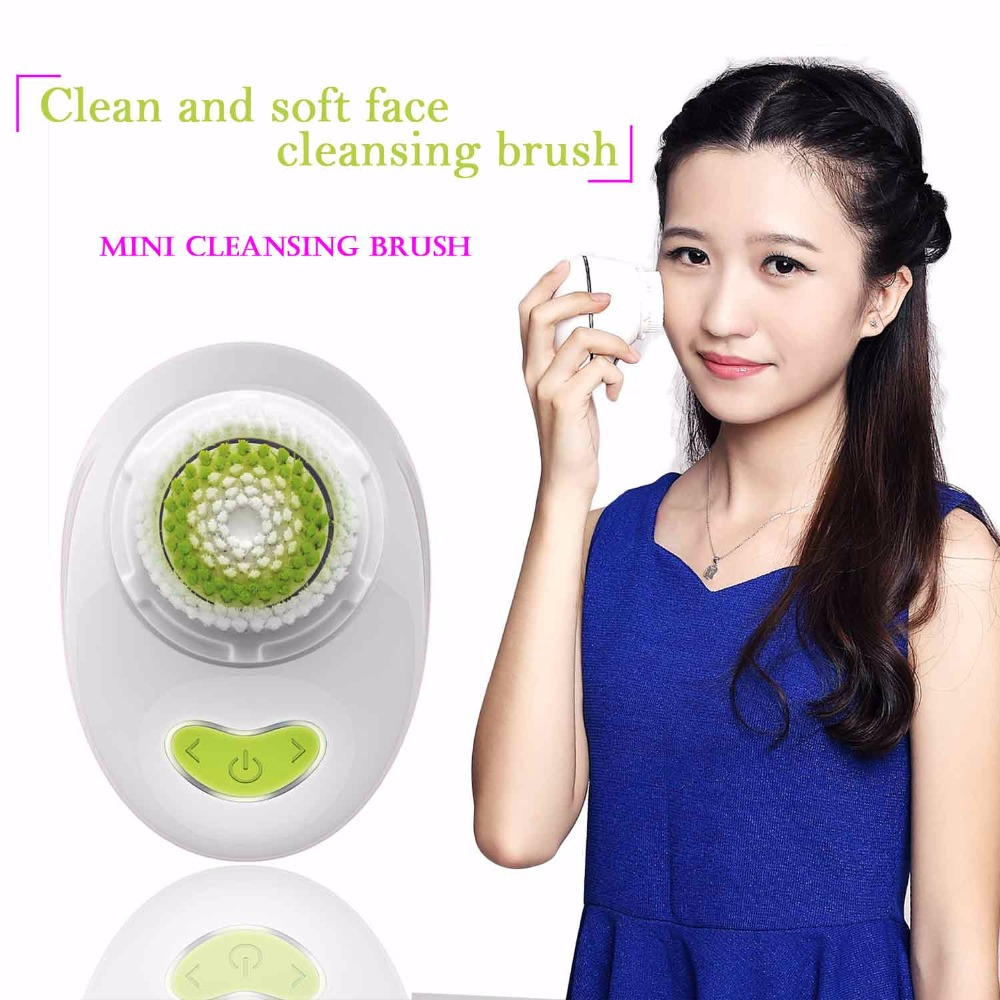 Big Sale 90% OFF High End Waterproof Facial High Quality Facial Brush Mini Electronic Face Cleaning Tool Brush Cleansers Device(China (Mainland))