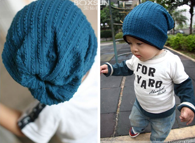 Hot 5 Colors Baby Kids Infant Toddler Beanie Hat Warm Winter Boys Girls Cap Children Accessories A271(China (Mainland))