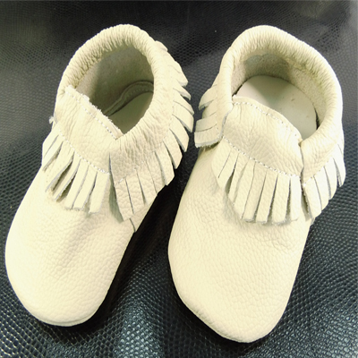 CREAM 1 pair -sale baby Moccasins Soft Moccs Baby Shoes Newborn Baby firstwalker Anti-slip Genuine Cow Leather BAB 407(China (Mainland))