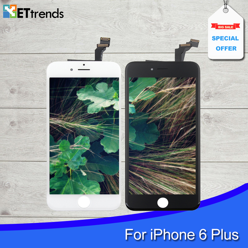 10PCS/LOT AAA Grade OEM LCD Screen for iPhone 6 Plus 5.5 lcd display digitizer Assembly Replacement White/Black Free Ship by DHL(China (Mainland))