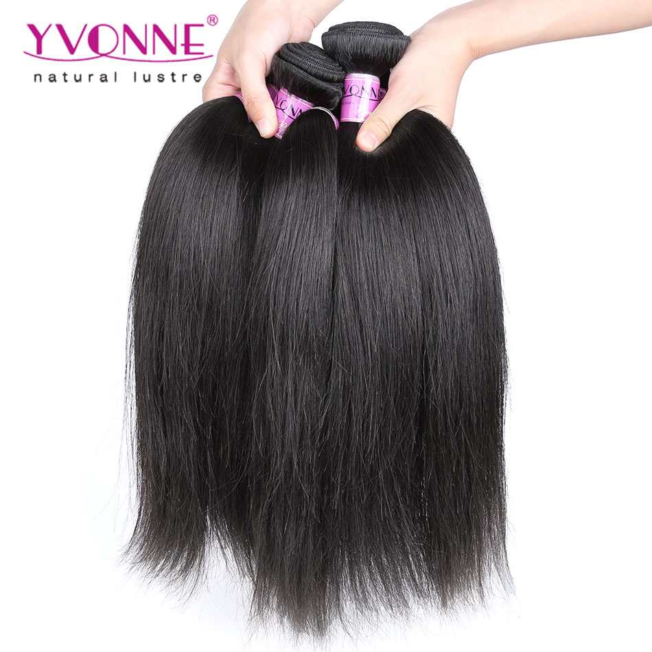 Brazilian Virgin Hair 4 Bundles,Grade 7A Straight Hair Weave,12-28 Inches Aliexpress Yvonne Hair,Natural Color 1B(China (Mainland))