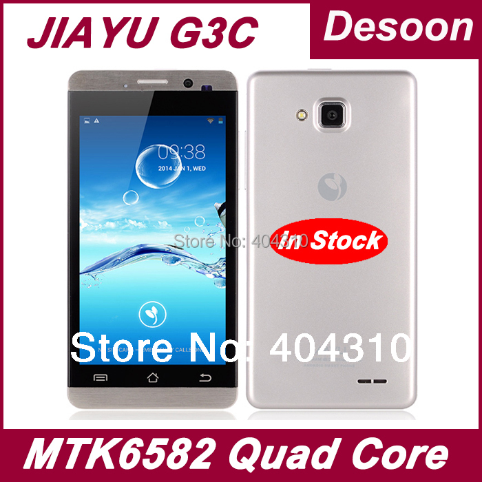 "150pcs in stock! Original Jiayu G3c G3 G3s Cellphones 1GB RAM 4GB ROM Android 4.2 MTK6582 4.5"" gorilla glass Russian language"