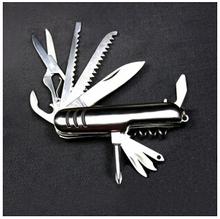 Caliente! nuevo 11 funciones suizo cuchillo plegable de múltiples funciones navajas aire libre cuchillo de la supervivencia que acampan cuchillos envío gratis