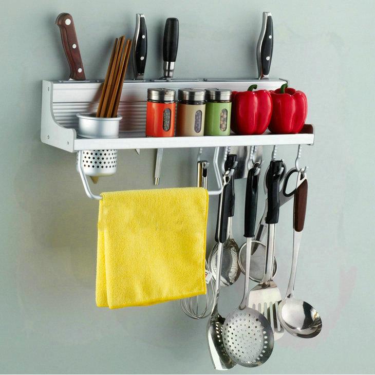 50cm Long Aluminum Kitchen Racks Kitchen Storage Shelf Single CUP Dinnerware Shelf Holders Racks water bathroom faucet(China (Mainland))