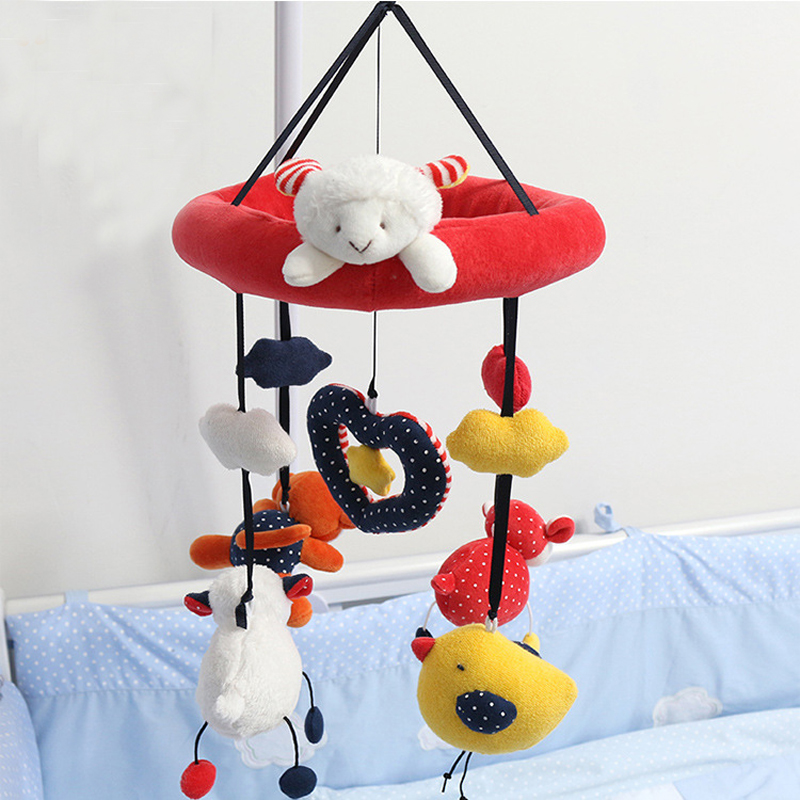Bed Musical Bell Loving Reading Bear Baby Toys 0-12 months Rotating Hanging Plush Dolls Mobility in The Crib Kids Rattle WJ333(China (Mainland))