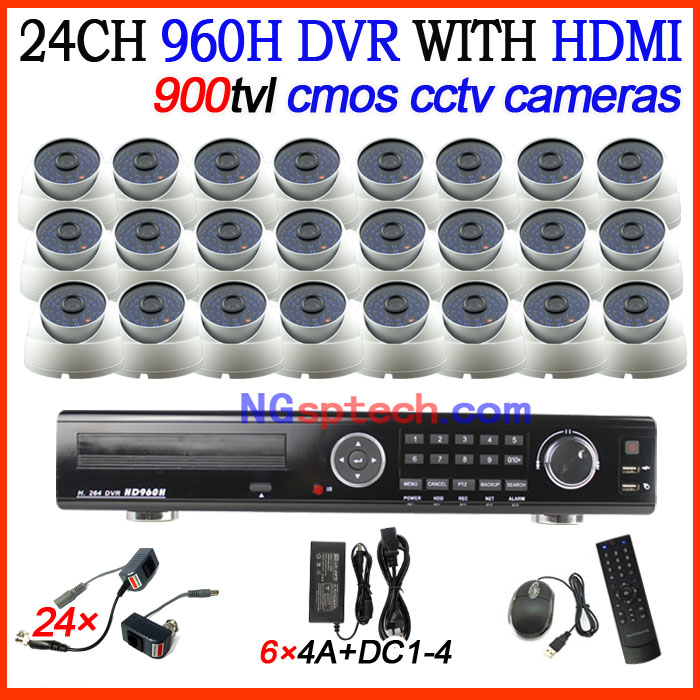 CCTV security DVR recorder 24CH DVR with HDMI 24ch 900tvl cmos IR day&amp;night vision cameras dvr CCTV system free shipping<br><br>Aliexpress
