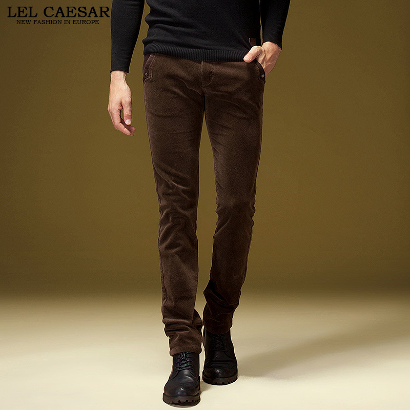 mens dark brown corduroy pants - Pi Pants