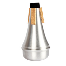 Aluminum Alloy Trumpet Mute High Quality Trompete Trompeta Trompet Straight Sourdine Silver Color(China (Mainland))