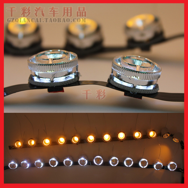 K5 car tears light color strip led light eyebrow modified steering selling decorative lights daytime running lights bright brow(China (Mainland))