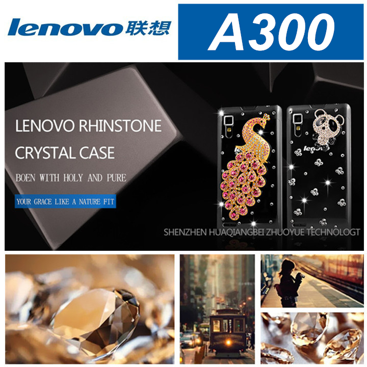 factory price 2015 new hot sale lenovo A300 case cover bling case lenovo A300(visit store lenovo case all model can be made)(China (Mainland))