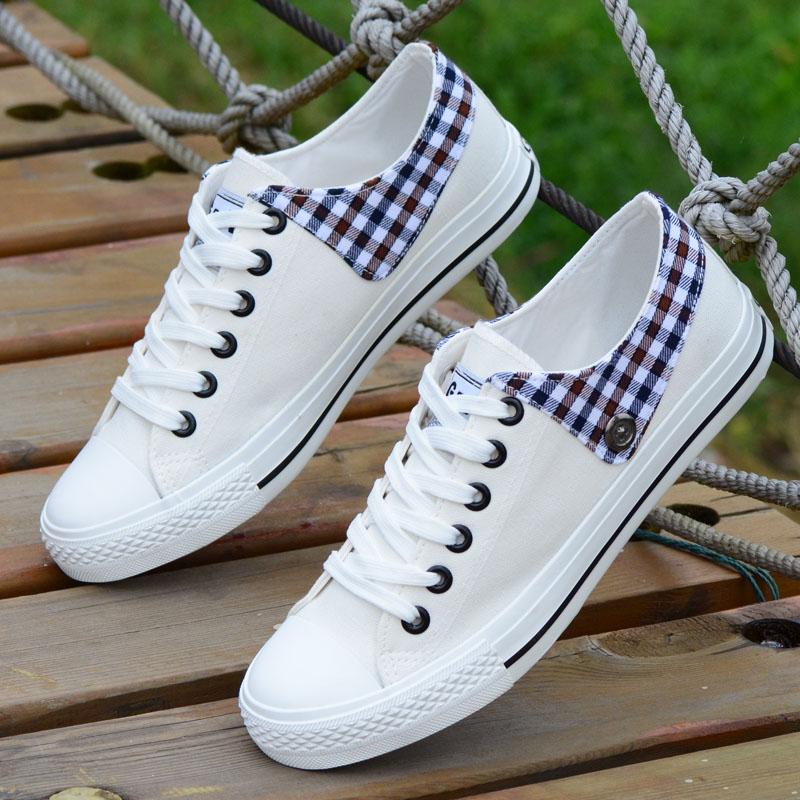 New Arrival Womenu0026#39;s Plus Size 39-43 Canvas Shoes Flat Low Spring Fashion Single Shoes Women ...