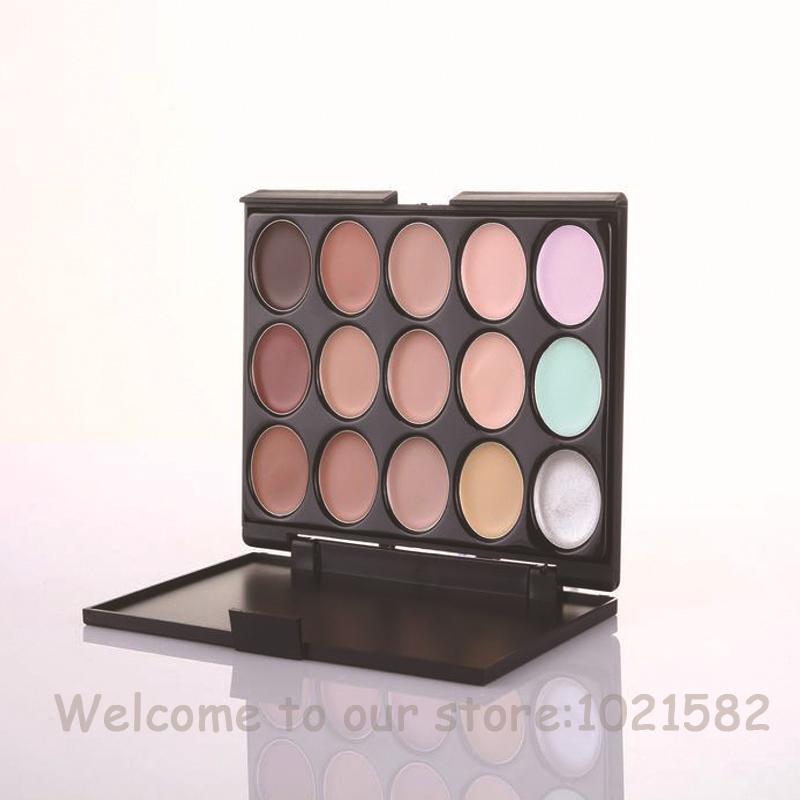 New Professional Brand 15 Colors Concealer Ocultador Foundation Cream Camouflage Natural Palette
