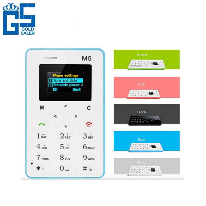 "Russian Keyboard AIEK M5 Card Cell Phone 1.0"" 480*320 OLED Screen 4.5mm Ultra Thin Quad Band Low Radiation AEKU M5 Card Phone(China (Mainland))"