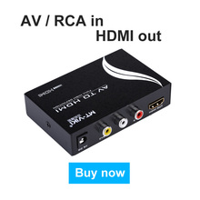 AV to HDMI Converter RCA Composite Analog Video to HDMI Adapter FHD 720P 1080P Optional Up-scaling MT-Viki AH312
