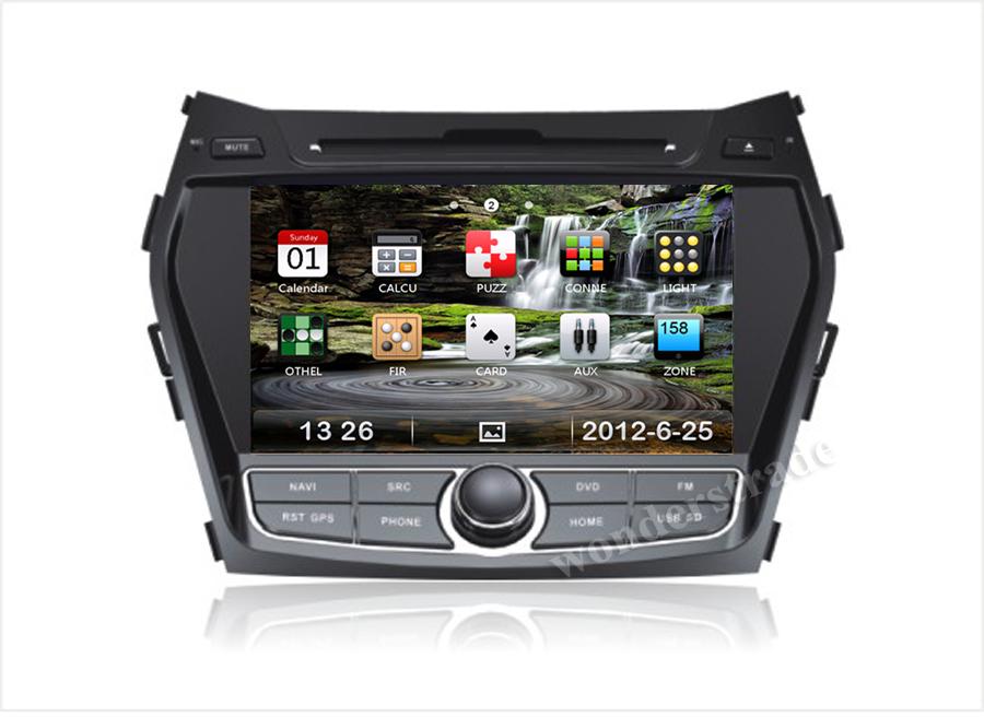 New CAR DVD PLAYER autoradio GPS navigation for Hyundai Santa Fe IX45 2013 2014 / 3g internet / Russian language / Free map(China (Mainland))