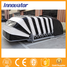 Automatic solar power retractable folding garage car cover IT212(China (Mainland))