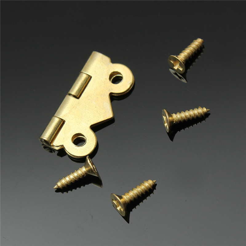 New Arrival 10pcs Fashion Design Brass Color Mini Butterfly Hinges Cabinet Drawer Jewelry Box DIY Repair(China (Mainland))