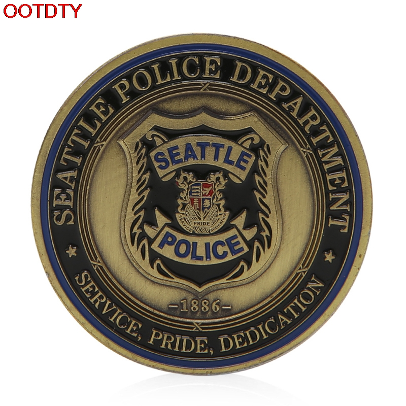 Saint Michael Seattle Police Department Commemorative Challenge Coin Collection(China (Mainland))