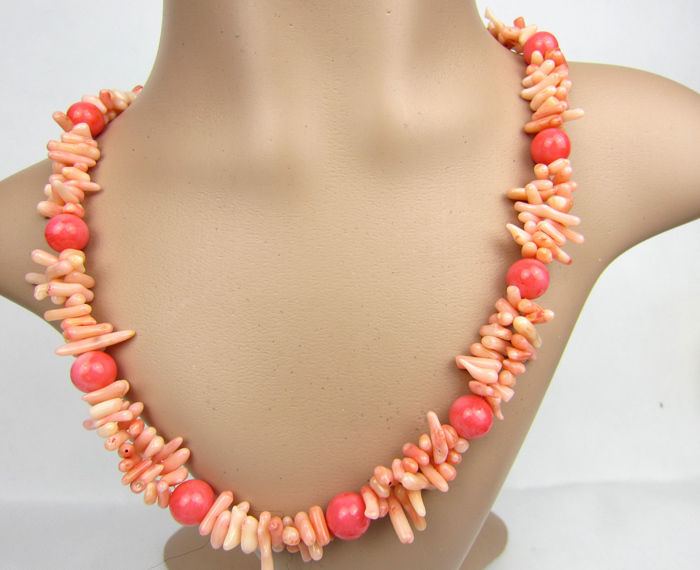 1013 Pink Real Coral Beads Necklace New(China (Mainland))