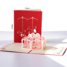 パエル Spiritz 3D ポップアップグリーティングカードはがきヴィンテージハンドメイド折り紙紙レーザーカットクラフト誕生日プレゼントボーイフレンドお父さ(China)