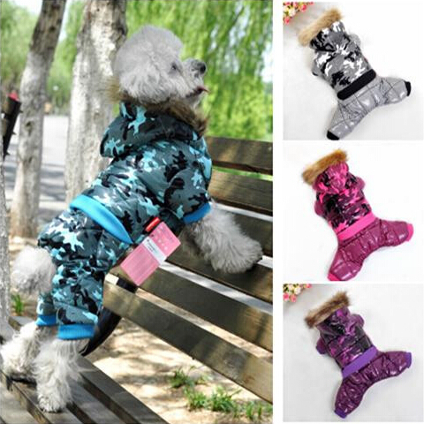 Hot! Pet Dog Clothes Winter Coat Red 6 Color Cotton Dog Winter Jumpsuit New Dog Coats For Large Dogs Small Pet XS/S/M/L/XL/XXL(China (Mainland))
