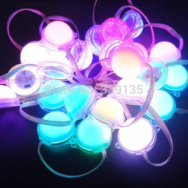 50mm 6 leds ws2811 pixel rgb led module light source;6pcs 5050 smd rgb led;20modules/string,waterproof IP67,DC12V input(China (Mainland))