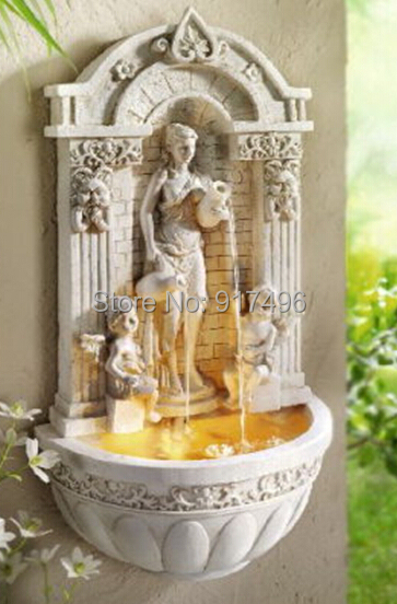 The Wall Hanging Wall European Angel Water Fountain With