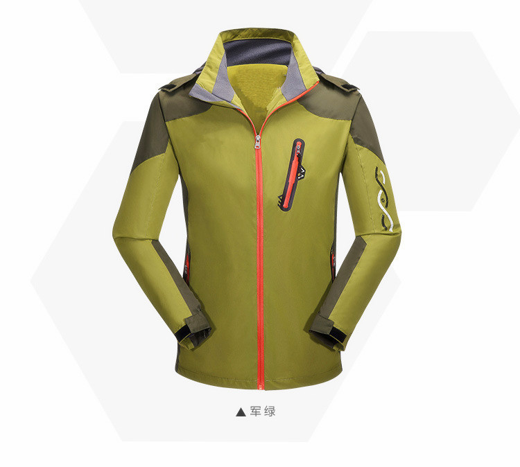 2015 Men's Super Quality Wolf Brand Plasma Wind Jacket Brand Hiking Softshell Skiing Jacket Men Waterproof Windproof Breathable(China (Mainland))