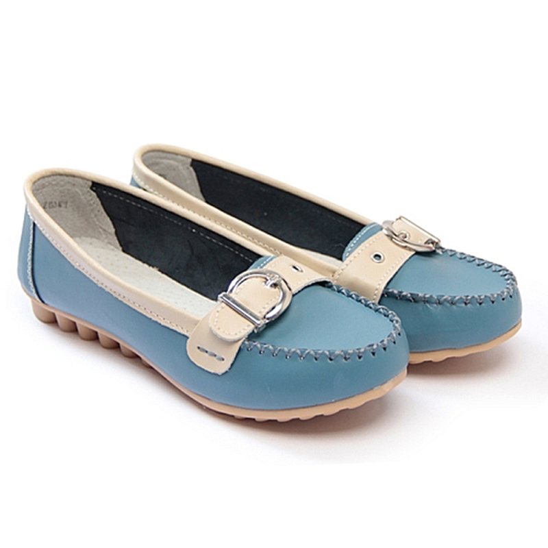 newest 2015 genuine leather shoes flats non