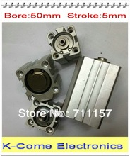 Buy 50mm Bore 5mm Stroke Pneumatic Compact Air Cylinder SDA 50*5 Airtac Thin Type 50-5 for $9.50 in AliExpress store