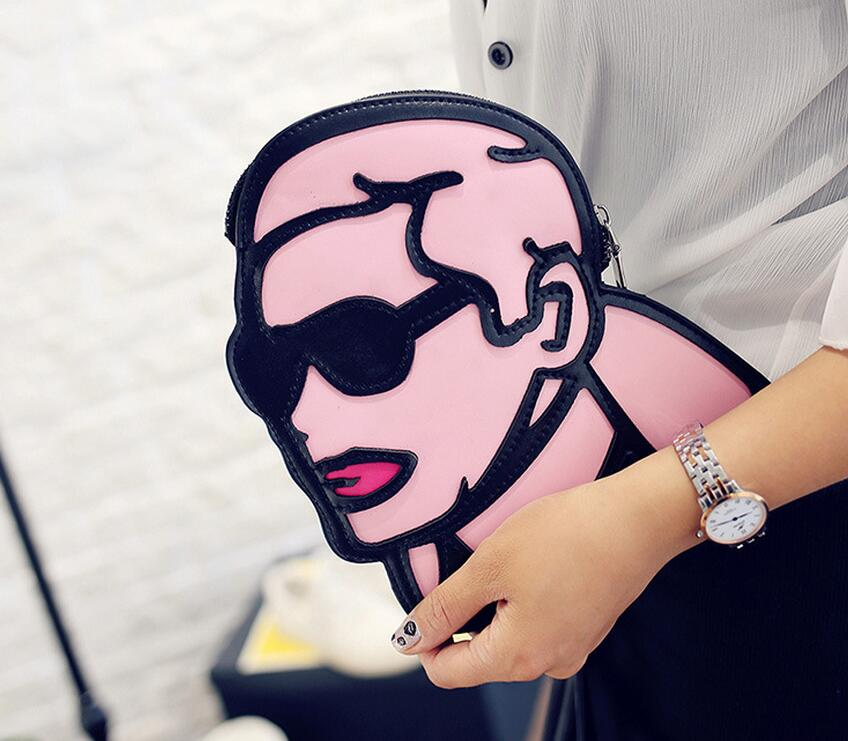 M529 Cute Specific Character People Head Messenger Bags Small Size Women Gift Wholesale(China (Mainland))
