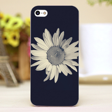 Daisy chrysanthemum Design Customized transparent case cover cell mobile phone cases for Apple iphone 6 6plus hard shell