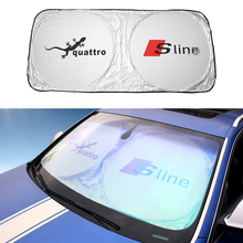 Folding Front Car Window Sun Shade Auto Visor Windshield Block Rear Cover Audi A3 A4 A5 A6 Q3 Q5 Q7 S3 S5 Car-styling Covers - Need for Speed store