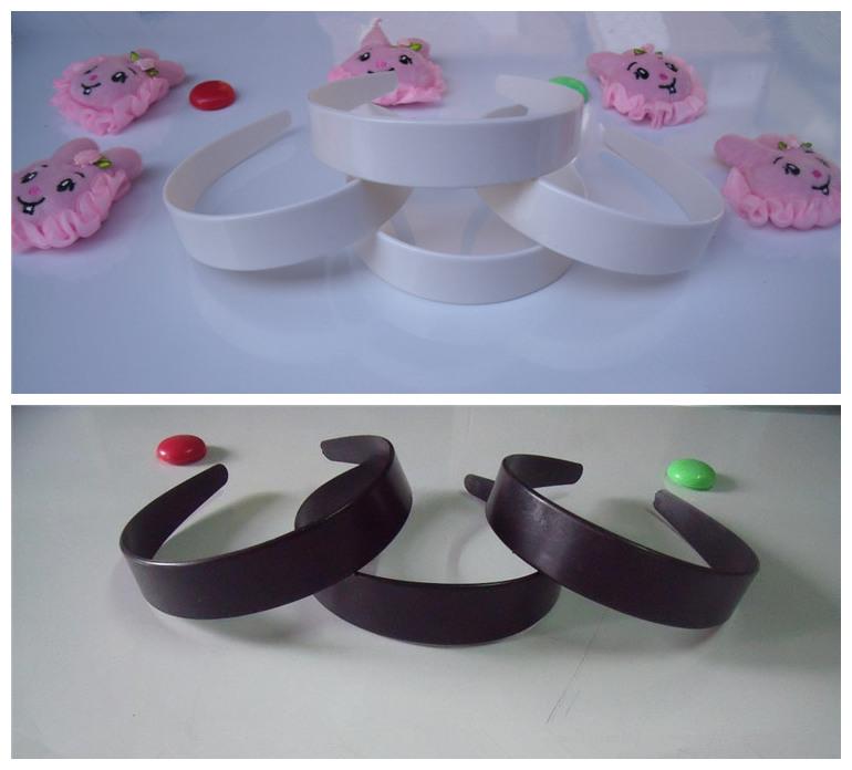 Wholesale 50pcs/lot DIY 28mm plastic plain headband white black DIY Craft tools Jewelry Hair Accessories DIY872(China (Mainland))