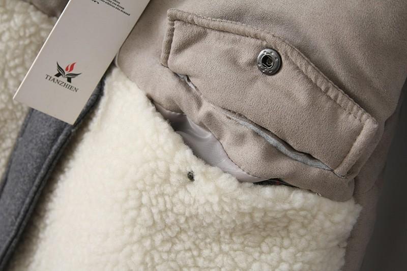 Скидки на Парки Шерсть Лоскутное Куртка Натуральный Мех Воротник Зимнее Пальто Зимняя куртка Женщин Плюс Размер Парки для Женщин Зима Теплая Пальто