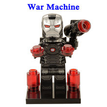 1 pcs LegoINGly Ation Figura Super Hero Vingadores Capitão Marvel Homem Vespa Formiga Blocos de Construção Hulk Brinquedos Pantera Negra Para crianças(China)