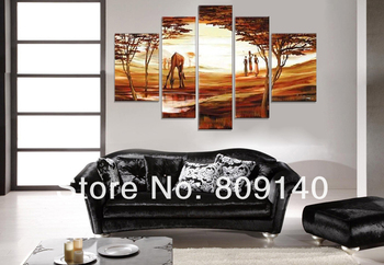 Free Shipping Big Size oil painting canvas African Landscape Nature Scenery high quality handmade home wall art decor decoration