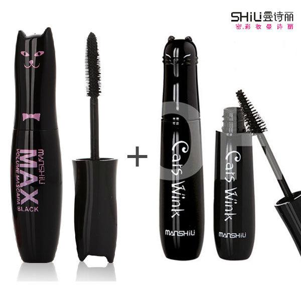 (2 PCs Mix Sales)2013 New Arrival Cat waterproof Eye Mascara Cosmetic Makeup Free Shipping(China (Mainland))