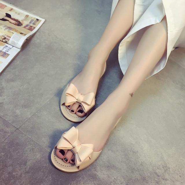 Студенты в летом 2016 года новые сандалии женщин контракт с бантом обувь южная корея ...
