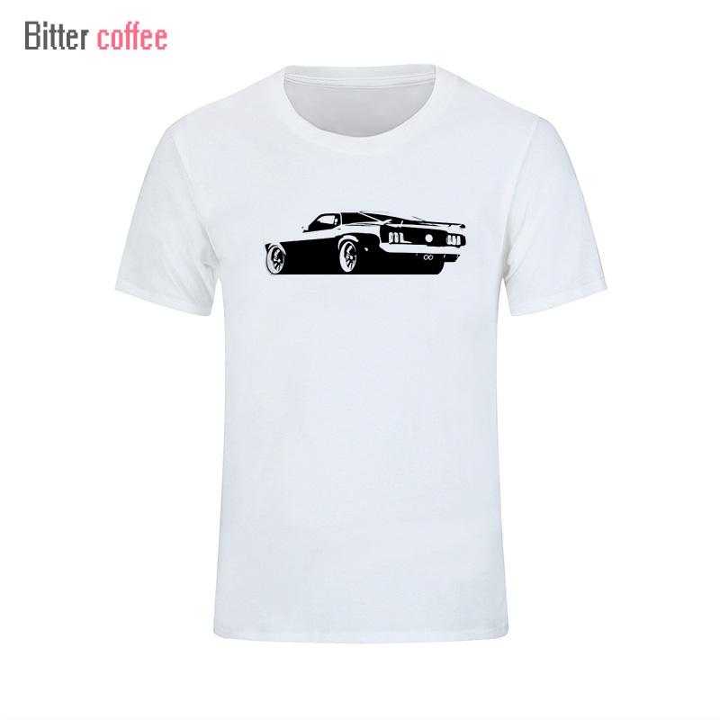 2017 Summer Men's Mustang Back printing t Shirt Mustang Back Shirts Short Sleeve Boyfriend's T shirt Plus Size XS-XXL(China (Mainland))