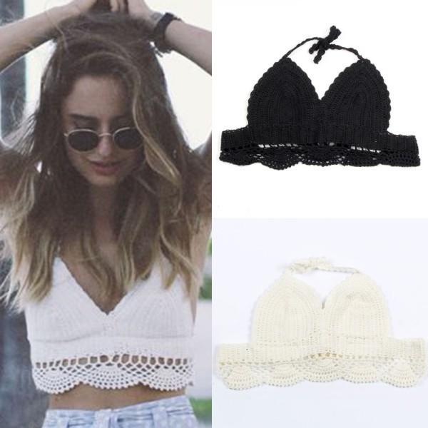 Womens Bralet Bra Lace Crochet Floral Crop Tops Bustier Cami Tank Top Bikini Vest Hot(China (Mainland))