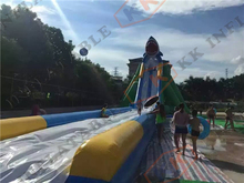 Inflatable wild rapid slip and slide inflatable long beach rental water slide(China (Mainland))